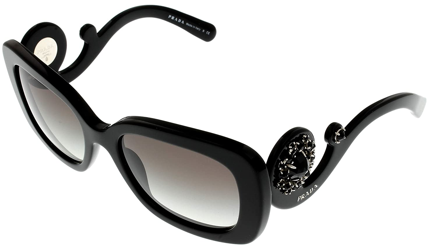 95a14f31927 Amazon.com  Prada Milano Sunglasses Women PR33PS 1ABOA7 Rectangular   Clothing