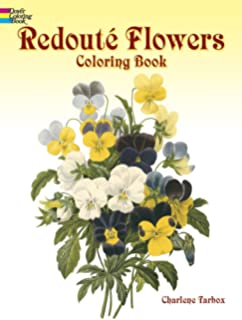 redout flowers coloring book dover nature coloring book