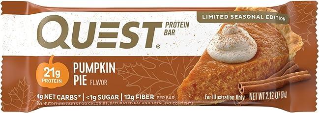 Quest Nutrition Protein Bar, Pumpkin Pie, 12 Count