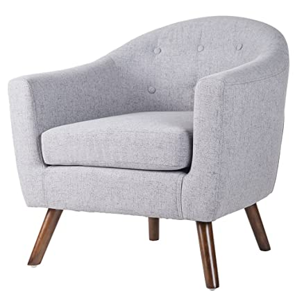 Amazon.com: Merax PP036418EAA Living Room Accent Chair with Armrest ...