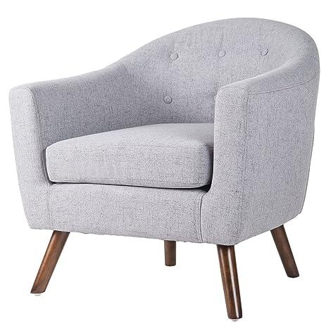 Amazon.com: Merax Stylish Upholstered Button Tufted Fabric Leisure ...