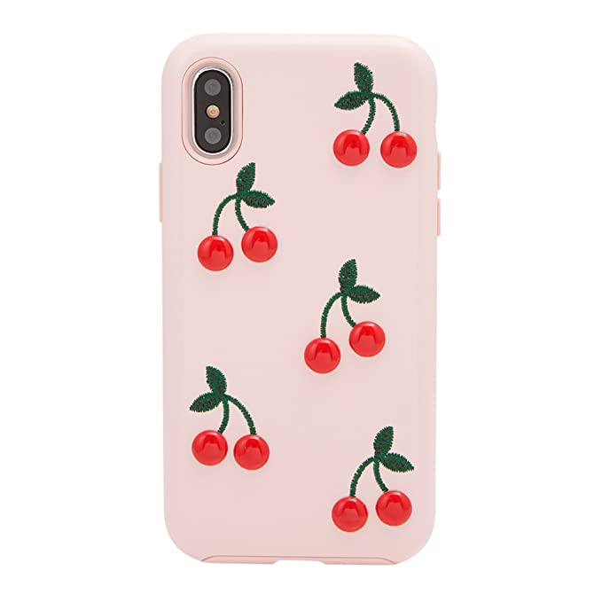 brand new 4bb74 6bb99 iPhone Xs, iPhone X, Sonix Cherry Patent Leather Cell Phone Case (Pink,  red) [Military Drop Test Certified] Sonix Women's Patent Leather Case for  ...