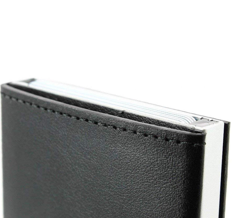 /Ögon Cascade Wallet Kartenetui Kreditkartenetui RFID-safe aus Italienischem Leder und Alumimum bei Moda-Store de