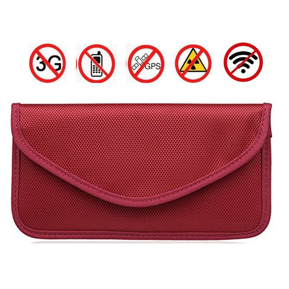 RFID Signal Blocking Bag, Anti-Tracking Anti-Spying Anti Radiation Key Pouch Signal Blocker Jammer Signal Shielding Wallet Case for Cell Phone Privacy Protection and Car Key FOB (Black) Zhikang68