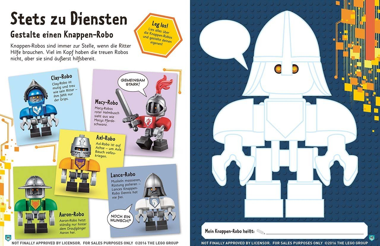 LEGO® NEXO KNIGHTS Set: LEGO® NEXO KNIGHTS Das große Stickerbuch + ...