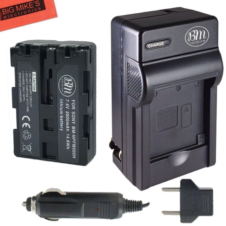 NP-FM500H Battery & Charger Kit for Sony Alpha SLT-A57 SLT-A58 SLT-A65V SLT-A77V a77II SLT-A99V SLT-A100 SLT-A200 SLT-A300 SLT-A350 SLT-A450 SLT-A500 SLT-A550 SLT-A560 SLT-A580 SLT-A700 SLT-A850 SLT-A900 DSLR Digital Camera + More!! Big Mike' s NPFM500