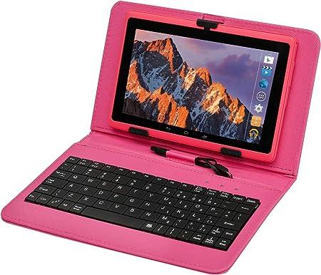 Tablet PC Pantalla táctil de 7 Pulgadas, Qrdenador Tablet Quad-Core con Funda para Teclado,Doble Cámara, Bluetooth,Wi-Fi, 8GB Nand Flash, Juegos 3D ...