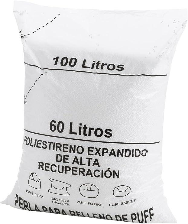 Textilhome - Relleno para Puff de Bolas (Perlas) 100 litros ...