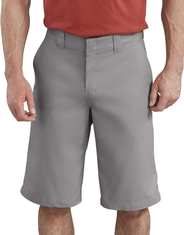 Dickies Mens 13 Inch Flex Flat Front Active Waist Short Big Work Utility Shorts