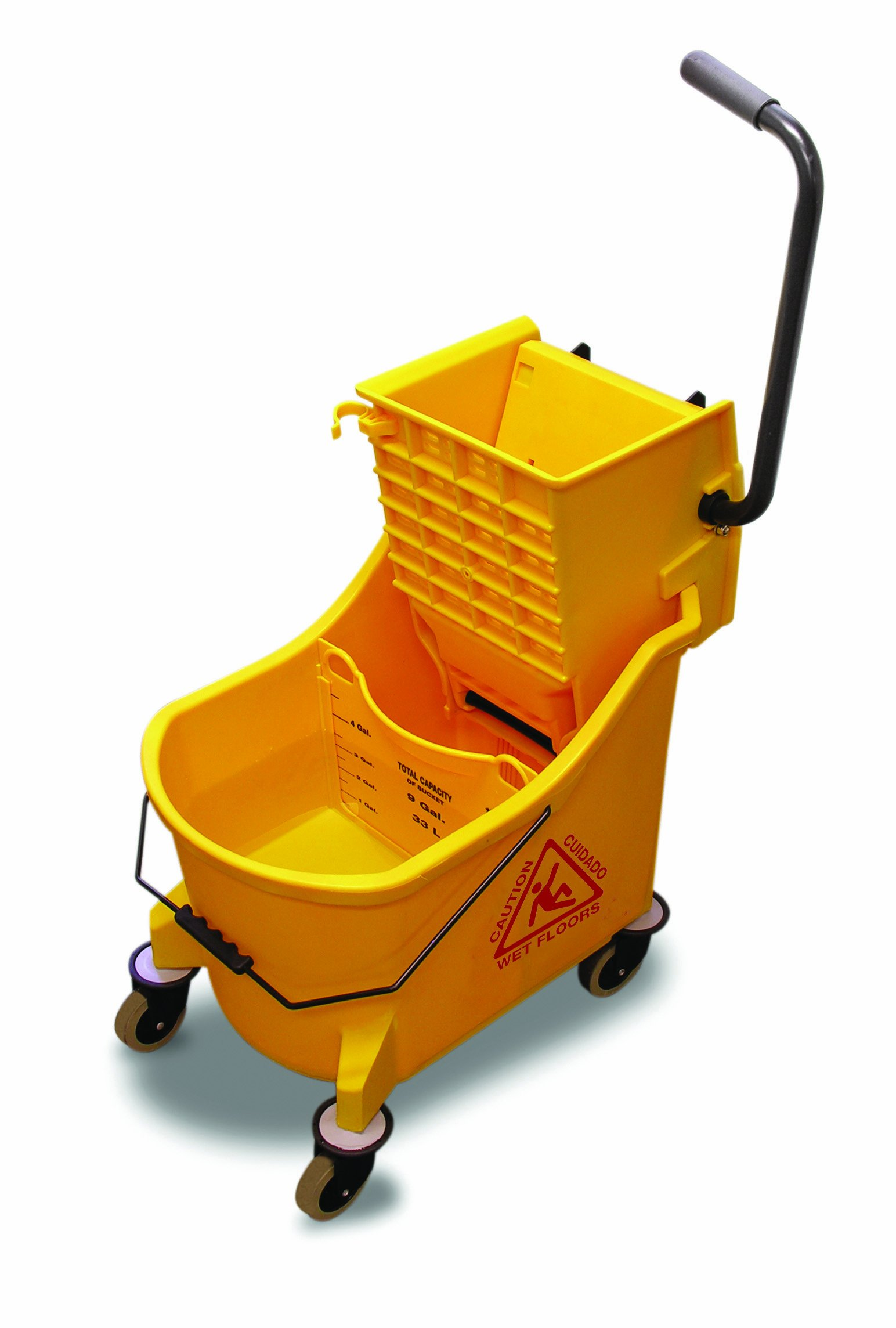 O-Cedar Commercial Maxi Plus Mop Bucket and Wringer, Yellow