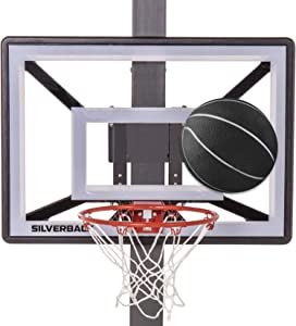 """Silverback Junior Youth 33"""" Basketball Hoop with Lock 'n Rock Mounting Technology Mounts to Round and Vertical Poles, Black (B8410W)"""
