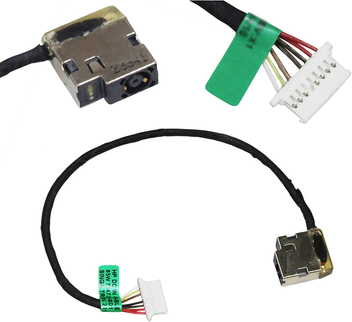 Zahara DC Power Jack with Cable Harness Replacement for HP Envy 17t-bw000 17-bw0011nr 17-bw0008ca 17-bw0003ca