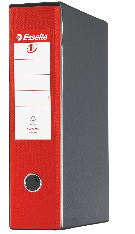 Dorso 8 cm Cartone rivestito in plastica Raccoglitore Eurofile con meccanismo a leva e con custodia Verde Vivida Esselte 390755940 Formato Protocollo