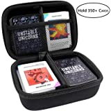 Hard Case Compatible for Unstable Unicorns Base Game, Legends/ Dragons/ NSFW All Expansion Pack, Fits up to 350 Cards. Includes 2 Removable Divider