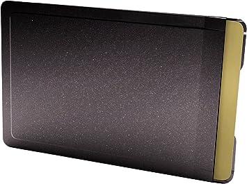 Card caja fuerte color Tarjeta Carcasa de Acero Inoxidable en Color Negro, RFID/NFC para teléfono: Amazon.es: Equipaje