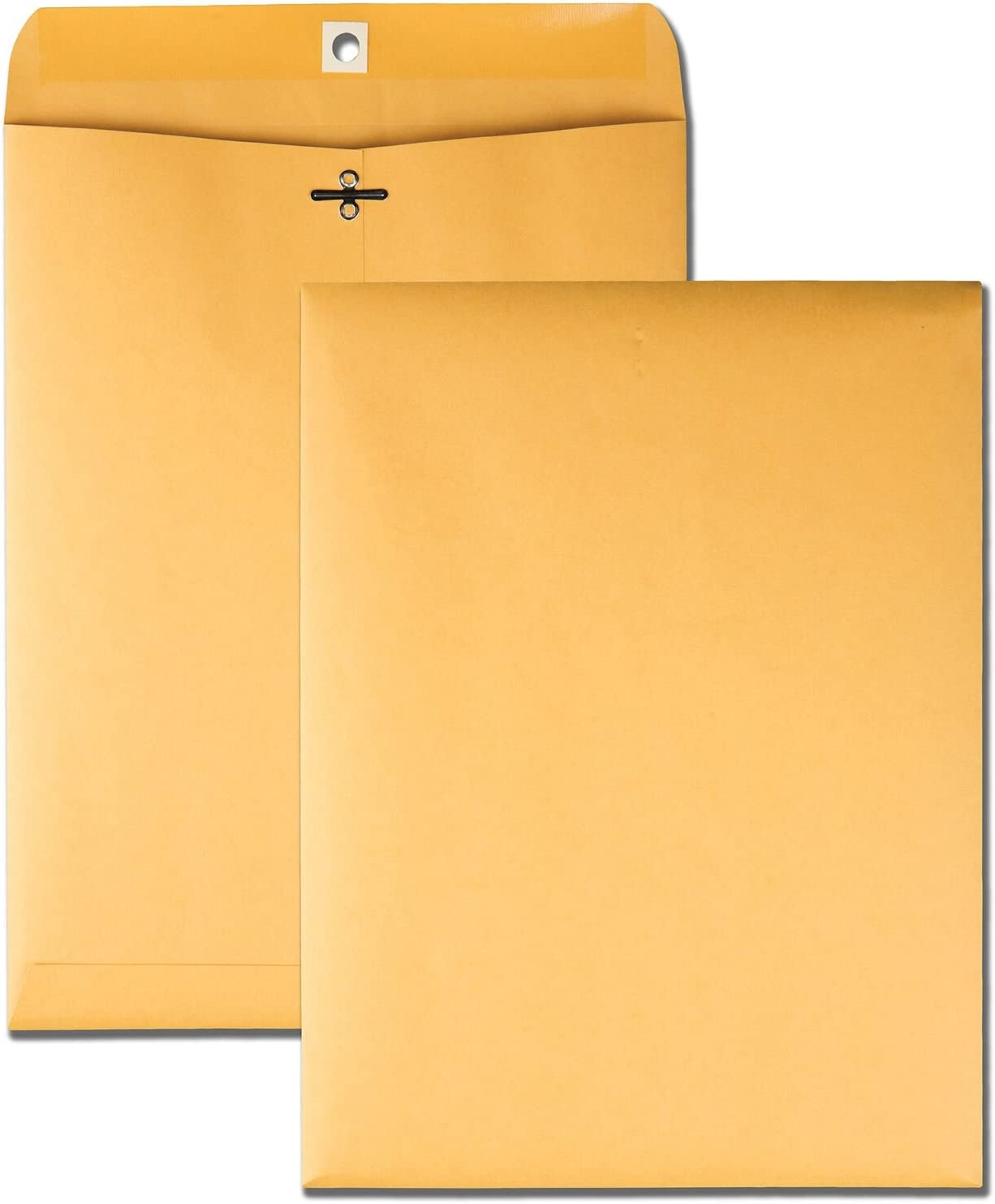 Quality Park 9 x 12 Clasp Envelopes with Deeply Gummed Flaps, Great for Filing, Storing or Mailing Documents, 28 lb Brown Kraft, 250 per Box (37590) : Office Products