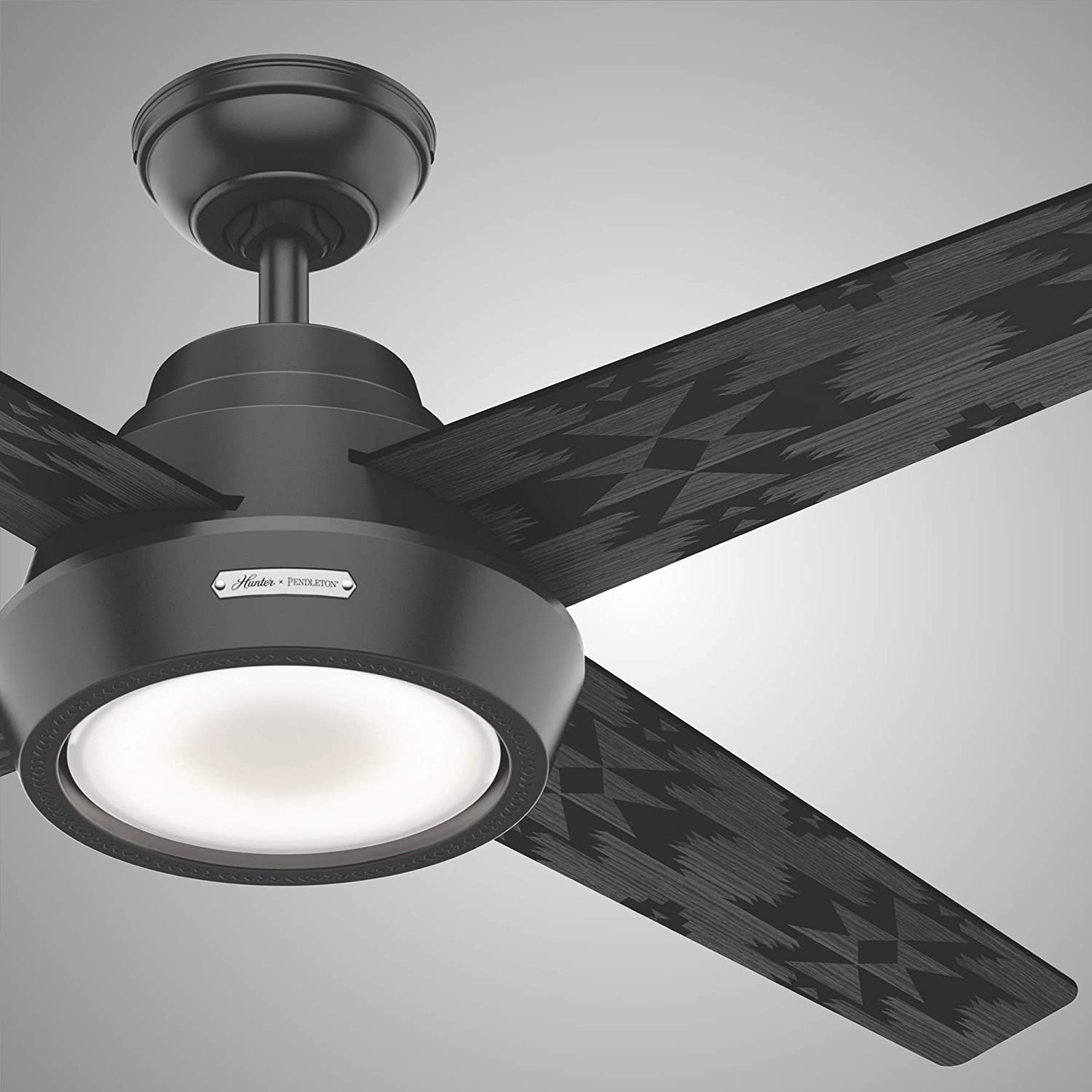 Hunter Spider Rock Indoor Ceiling Fan With Led Light And Remote Control 54 Matte Black Amazon Com
