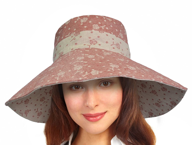 Women Summer Sun Hat Protection Wide Brim Cap Foldable Floppy Bucket Hat Terra TERRACAP-F069-BLU-CA