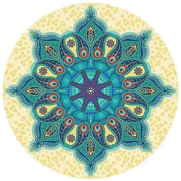TVOQ Yoga Mat Circle Forma Redonda 4.6 Almohadilla De ...