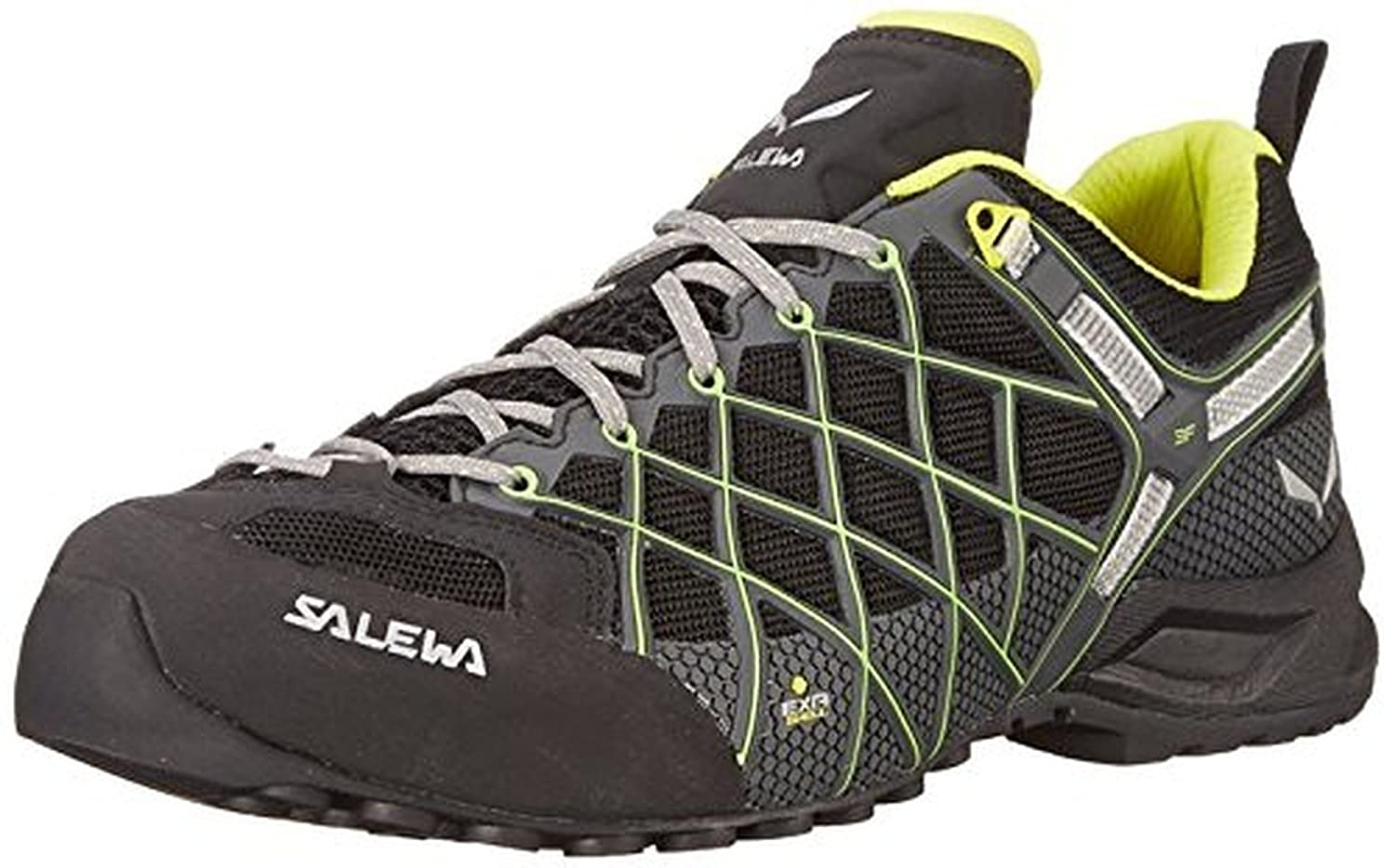 Salewa Men's Wildfire S GTX Shoes Black / Ciitro 8 & Etip Lite Gripper Glove Bundle