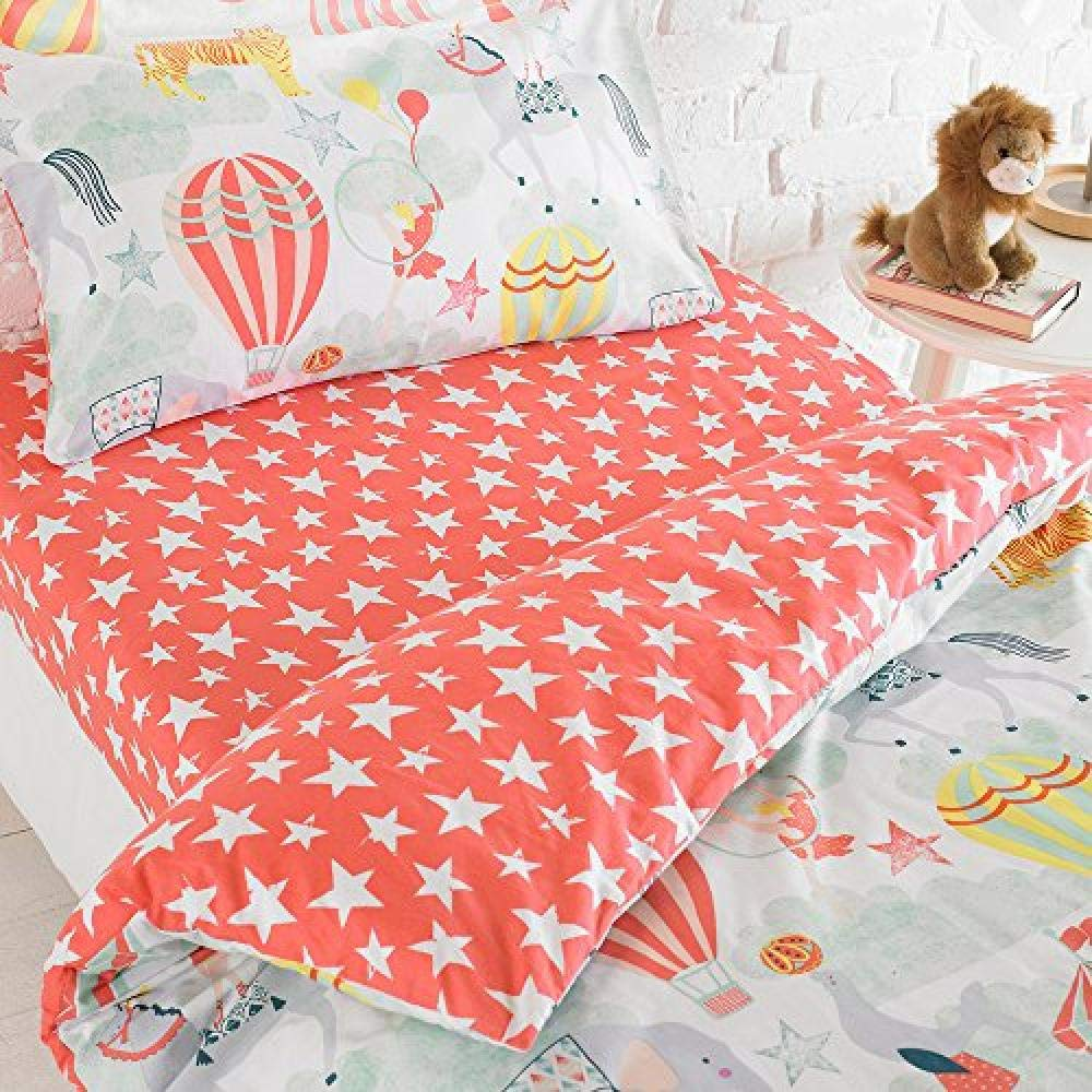Riva Home Vintage Circus Fitted Sheet (Toddler (120x150cm)) (Multicolour)