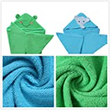 InsHere Elephant & Frog Kids Towels with Hood for