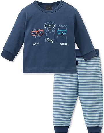 Schiesser Cool Dogs Baby Anzug 2-Teilig, Conjuntos de Pijama Unisex bebé, Azul