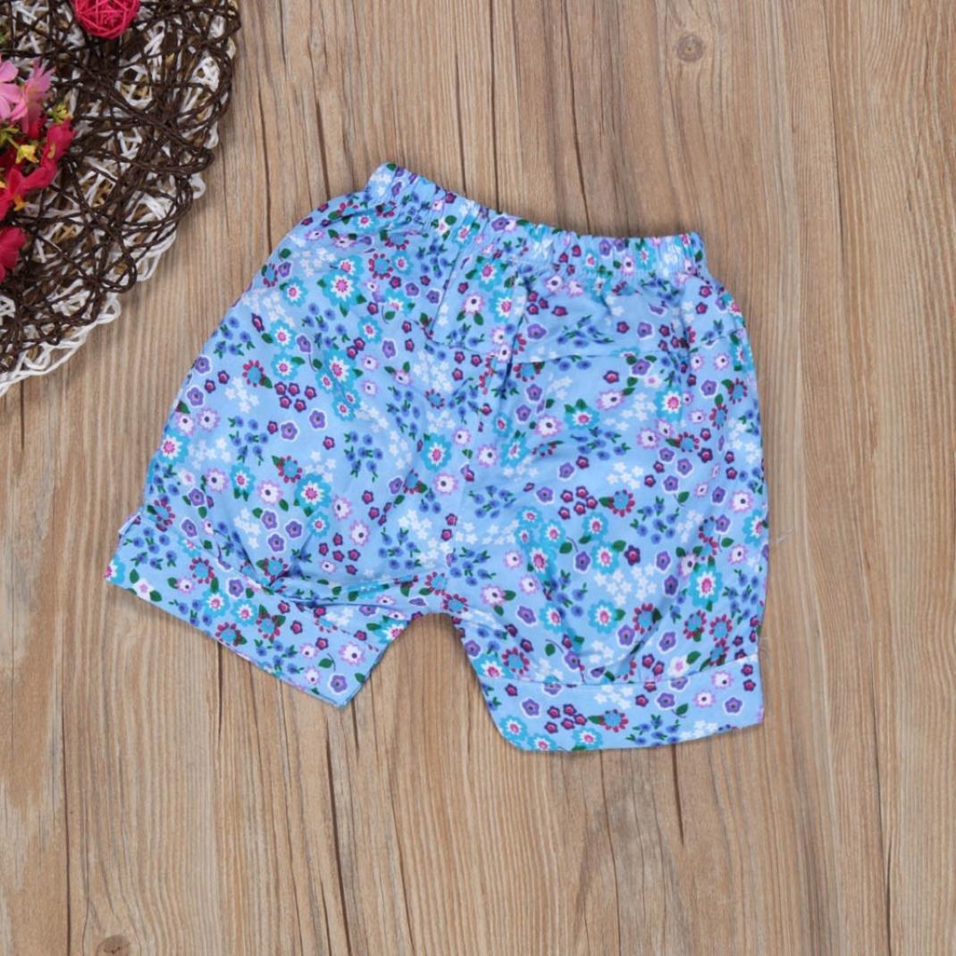 Pantalones Cortos Smartlady Verano Bebe Ni/ñA Camiseta Floral del Chaleco Diadema
