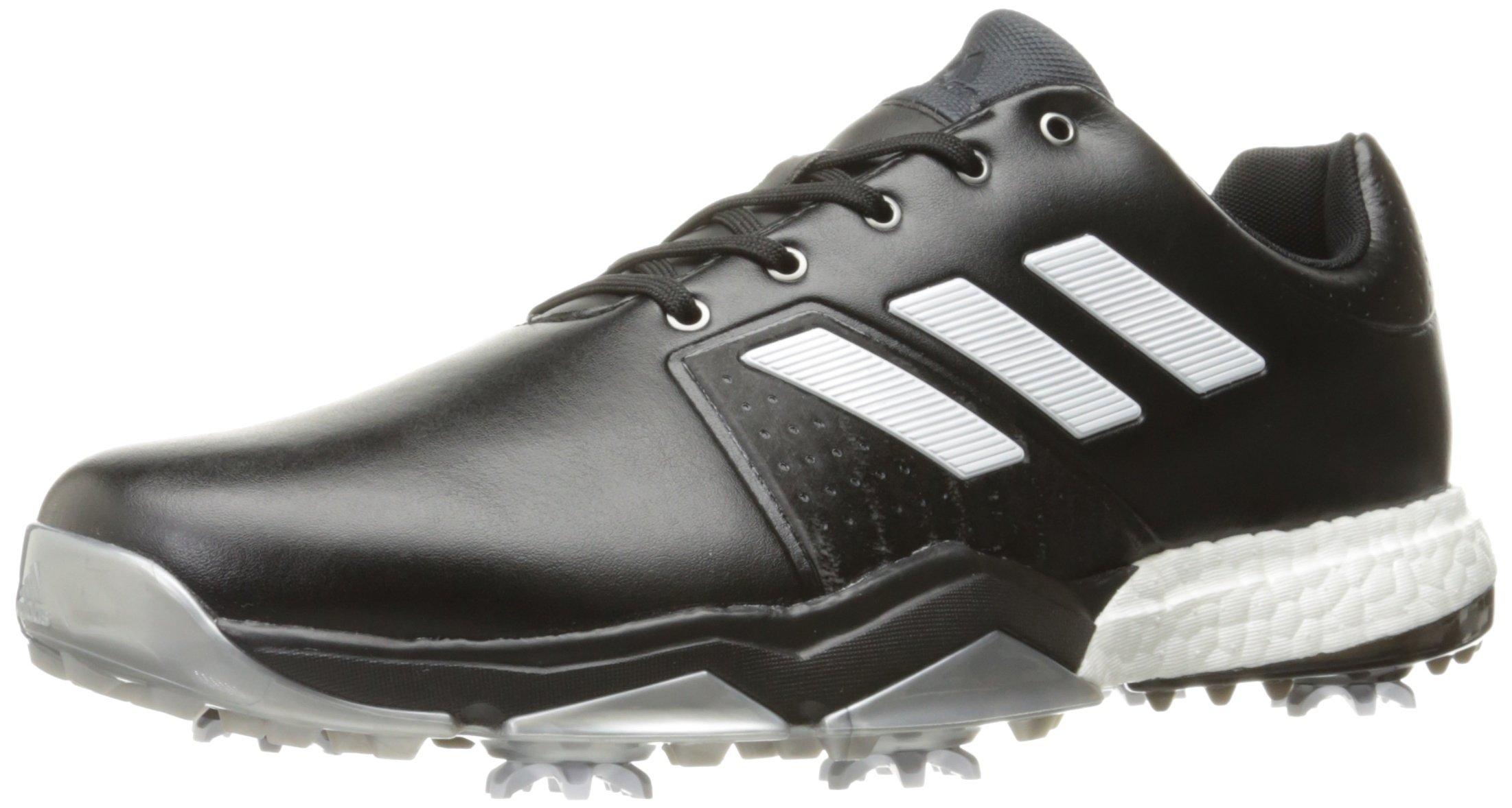adidas Men's Adipower Boost 3 WD Golf Shoe, Black/White/Silver Metallic, 7.5 W US