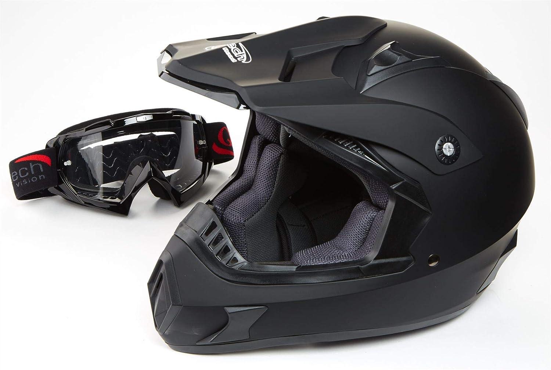 57-58cm M Red Qtech Casco Crash Helmet Cross MOTOCROSS Enduro Moto MX ECE22-05 MX Quad Motorcycle