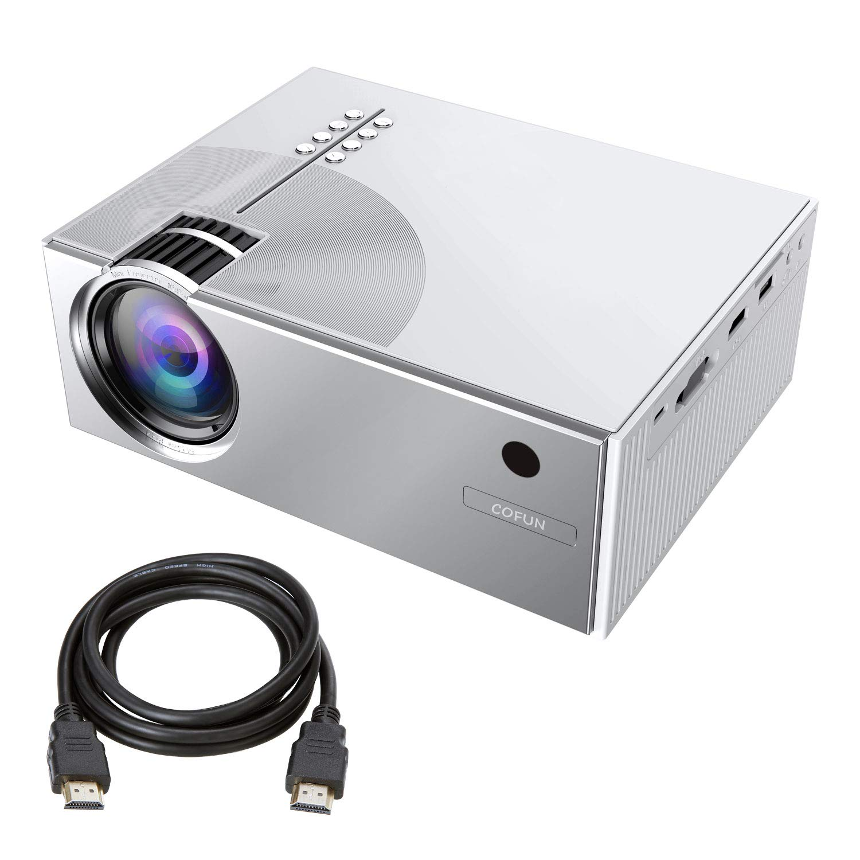 Projector, COFUN Video Projector 2800Lux, Full HD Projector with 170'' Projection Size, Projector Support 1080P HDMI USB VGA AV Headphone Jack, Compatible Laptop DVD PS4 Amazon Fire TV Stick