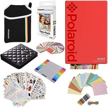 Polaroid Mint: Impresora instantánea (Rojo) PAQ Regalo + 20 ...