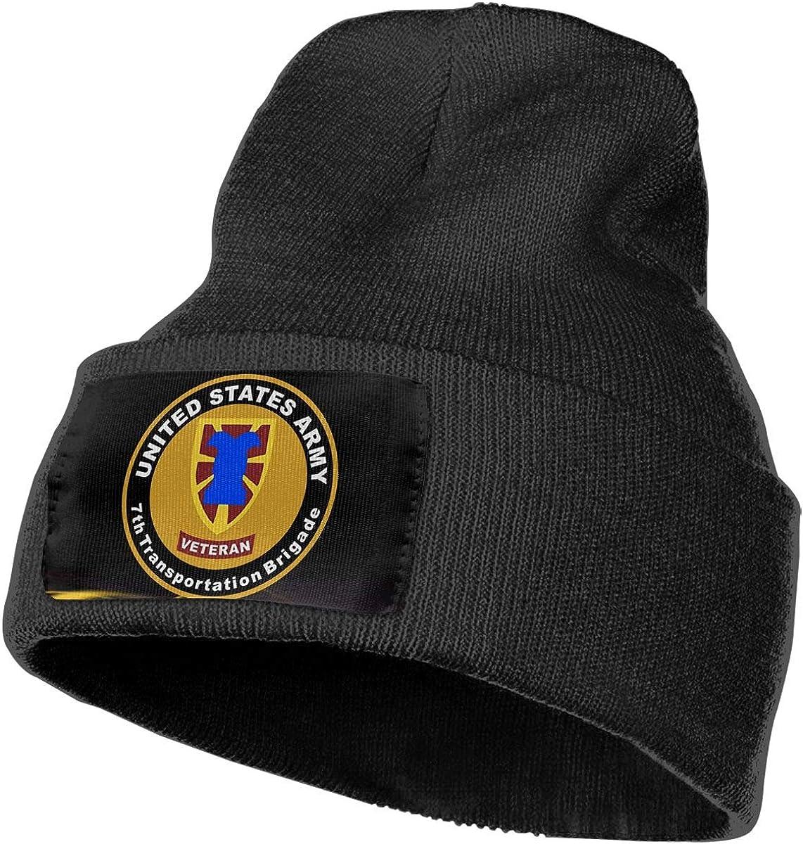 DFKD JKFD Unisex 3D Knitted Hat Skull Hat Beanie Cap Army Veteran 7th Transportation Brigade