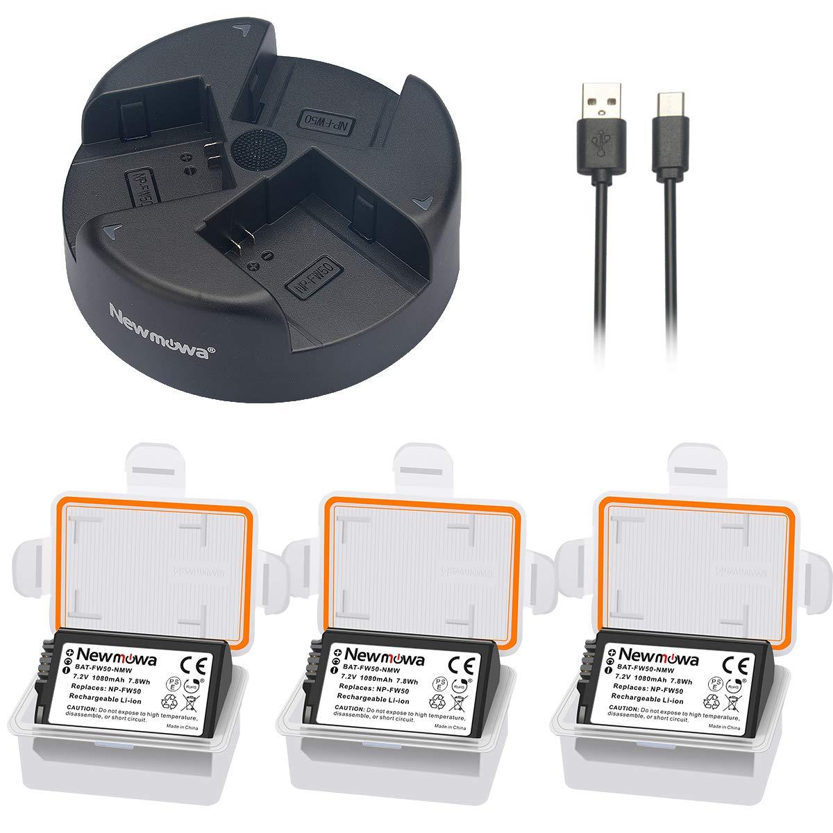 Newmowa NP-FW50 Batería de Repuesto (2-Pack) y Kit de ...