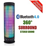 Milool Bluetooth Speaker LED Colorful Portable Wireless Bluetooth 4.0 Stereo Speaker with 24-Hour Playtime, Built-in Microphone for Calls for iPhone, iPod, iPad, Samsung, LG and others