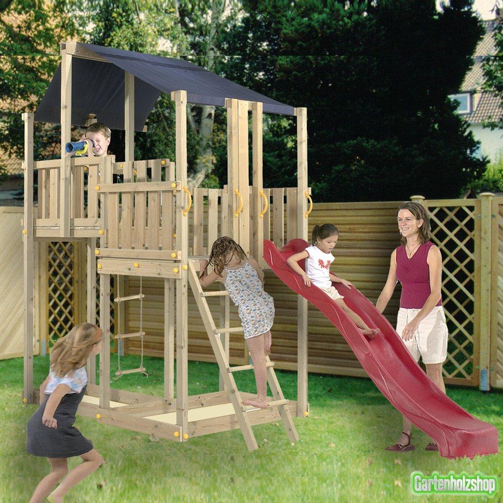 Blue Rabbit Spielturm Duplex mit Rutsche, für bis zu 8 Kinder
