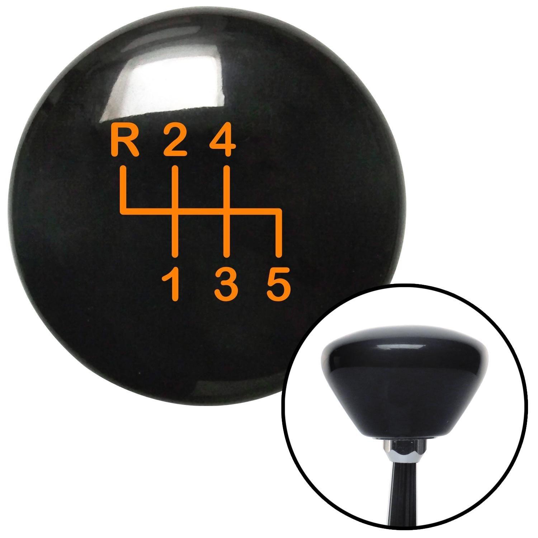 American Shifter 148214 Black Retro Shift Knob with M16 x 1.5 Insert Orange Shift Pattern 14n