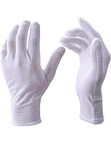 UClever 12 Pares guantes algodon Blanco De Trabajo De Inspección Para La Inspección De Moneda,
