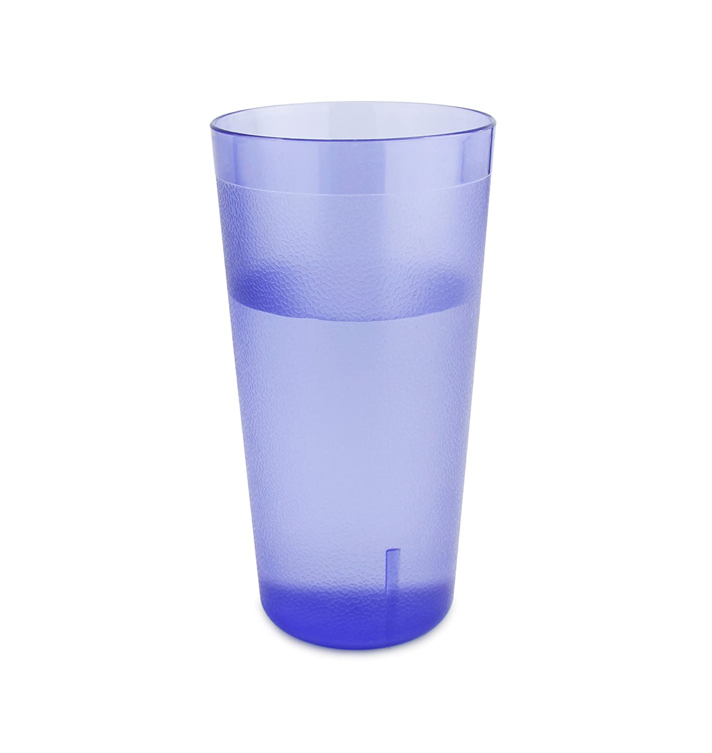 New Star Foodservice 46441 Tumbler Beverage Cups, Restaurant Quality, Plastic, 20 oz, Blue, Set of 12