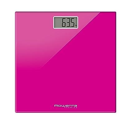 Rowenta bs1063 Premiss Balanza Báscula Digital con plato de cristal, rosa