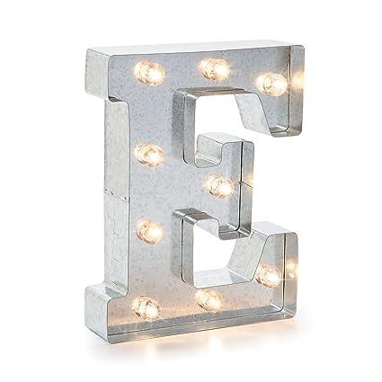 darice 5915 706 silver metal marquee letter 9875 e