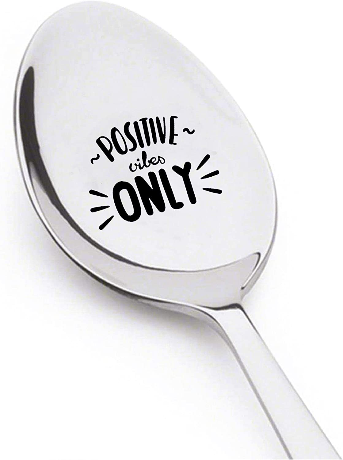 hand stamped cutery large spoon good friends
