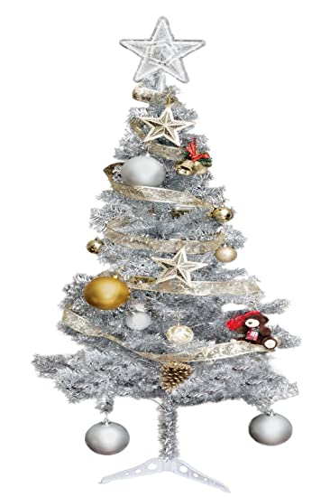 Hub Special, 6ft Artificial Christmas Tree W/ Stand, 450 Tips, Silver Color - Amazon.com: Hub Special, 6ft Artificial Christmas Tree W/ Stand, 450