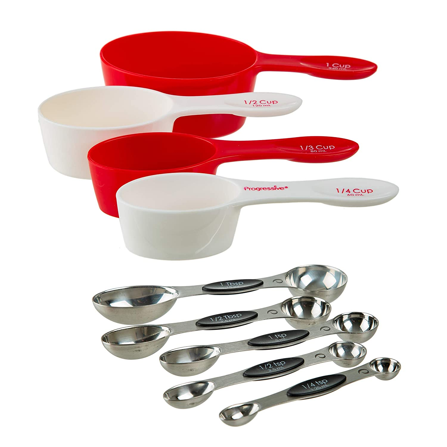 Prepworks by Progressive Magnetic Measuring Cups - 4 Piece Set Includes ¼ Cup, ⅓ Cup, ½ Cup and 1 Cup (BA-580) ⅓ Cup