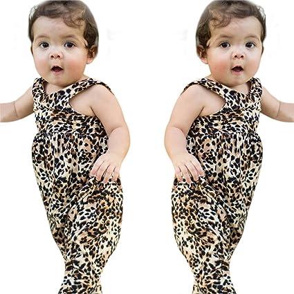 e7d7cd54162e Amazon.com  Bokeley Toddler Baby Girl Boys Leopard Print Sleeveless ...
