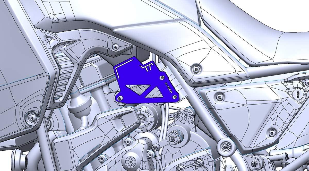 MyTech Tenere 700 Protezione fianchetto sinistro in alluminio anodizzato Blu