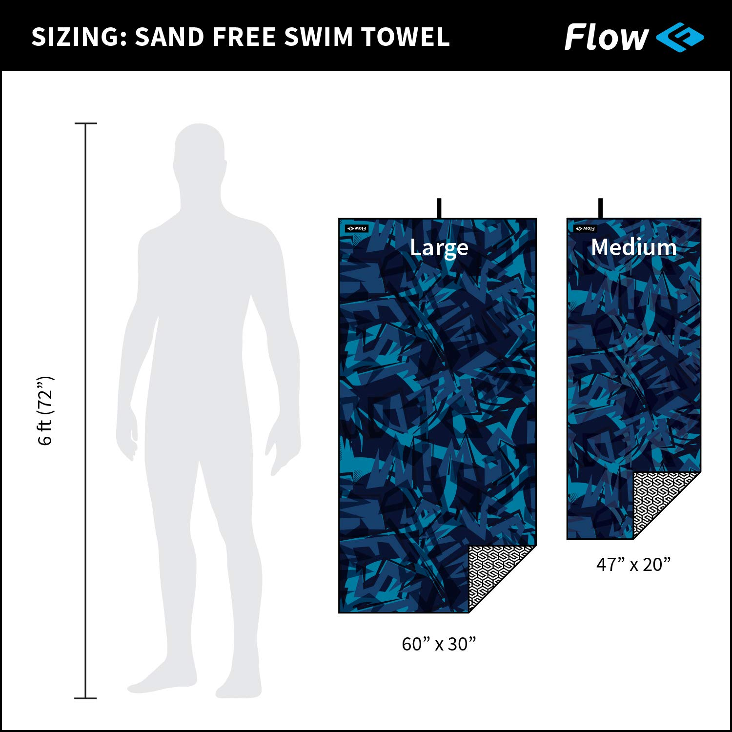 Beach Carrying Bag Included and Travel in Large and Medium Sizes Quick Dry Microfiber Towels for Swim Flow Sand Free Towel