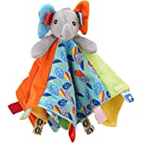 for Baby Girls Boys Best Gifts Plush Toys Premium Baby Tag Taggy Blanket Security Comforter Blankets with Soft Plush Duck