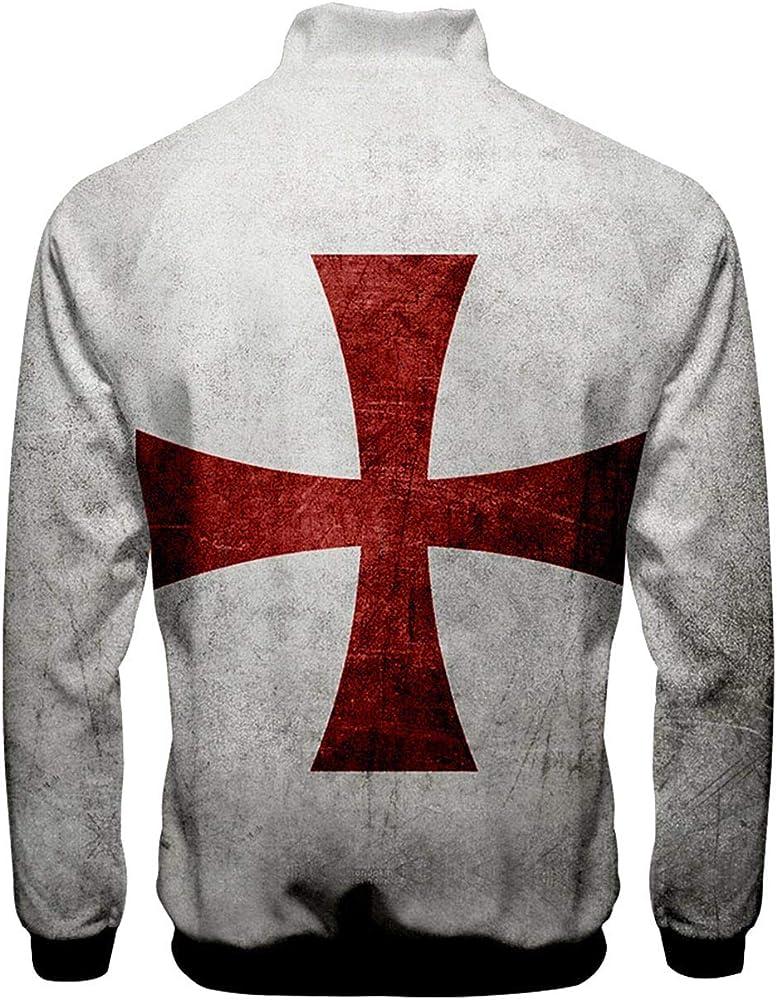 Hombres Disfraz de Caballero Templario Sudadera con Capucha ...