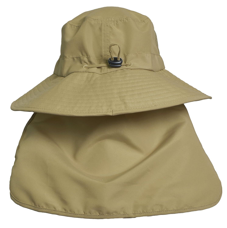023bf710 Sun Blocker Outdoor Sun Protection Fishing Cap with Neck Flap Wide Brim Hat  for Men Women Baseball, Backpacking, Cycling, Hiking, Garden, Hunting, ...